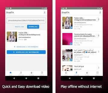 تحميل تطبيق SnapTik لتنزيل الفيديوهات